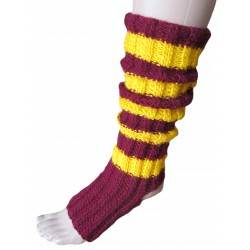 Ručně pletené ponožky na jogu CURSA ORIGINÁL, 4-5,Bordo/žlutá