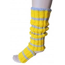 Ručně pletené ponožky na jogu LUCIDA ORIGINÁL,8-9, 10-11Bordo/žlutá