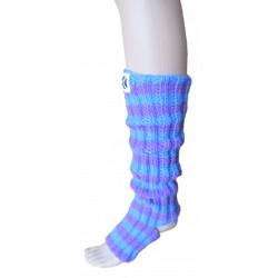 Ručně pletené ponožky na jogu JUXTA ORIGINÁL, 6-7,Fialová/modrá