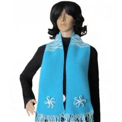 Ručně pletená dámská šála TAFEL ORIGINÁL,Tyrkysová