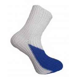 Ručně pletené ponožky LUFENG ORIGINÁL,6-7,Bílá/Tm. modrá