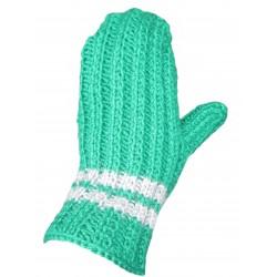 Ručně pletené rukavice FRANKLIN ORIGINÁL,3,Zelená/šedá