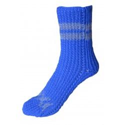 Ručně pletené ponožky ANTILA ORIGINÁL, 4-5, Bílá/Fialová
